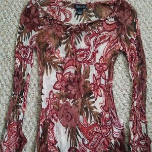 S Lucky Brand Patterned Blouse